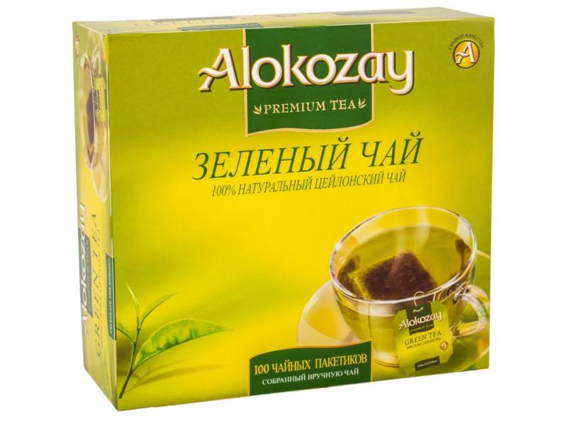 "Чай зеленый 100пак ""Alokozay"""