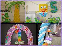 Оформление детского праздника воздушными шарами в Одессе