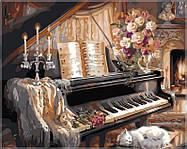 Раскраска по цифрам Музыкальный вечер у камина40 х 50 см(VP124)