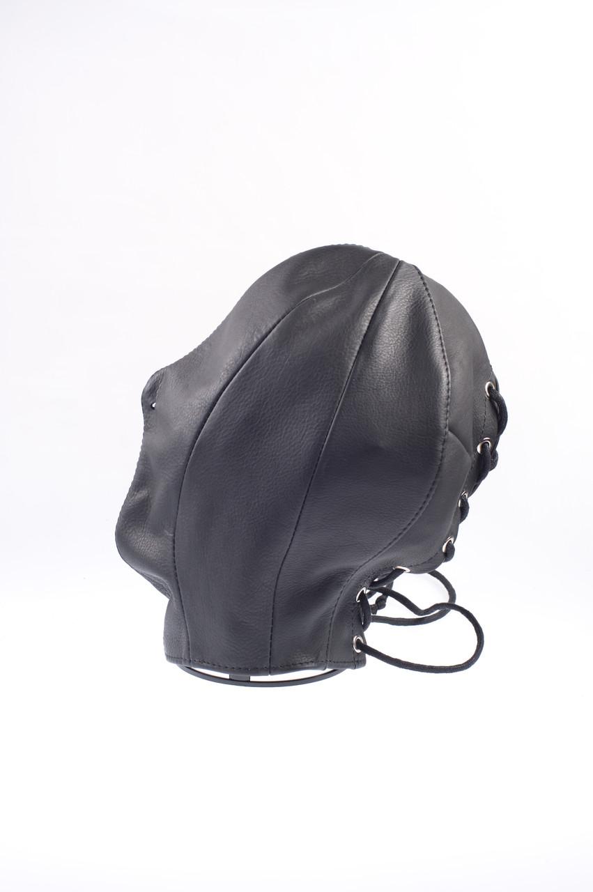 Маска для сенсорной депривации, Маска-шлем. Натуральная кожа.