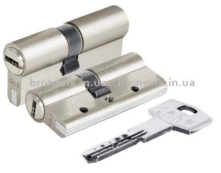 Цилиндр Kale 164 DBNE 90 мм (35x10x45) никель