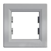 Рамка однопостовая Schneider Electric Asfora Алюміній