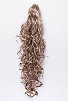 Волнистый шиньон на крабе №2. цвет мелирование пшеничный с белым