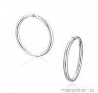 Серебряные серьги кольца Лика