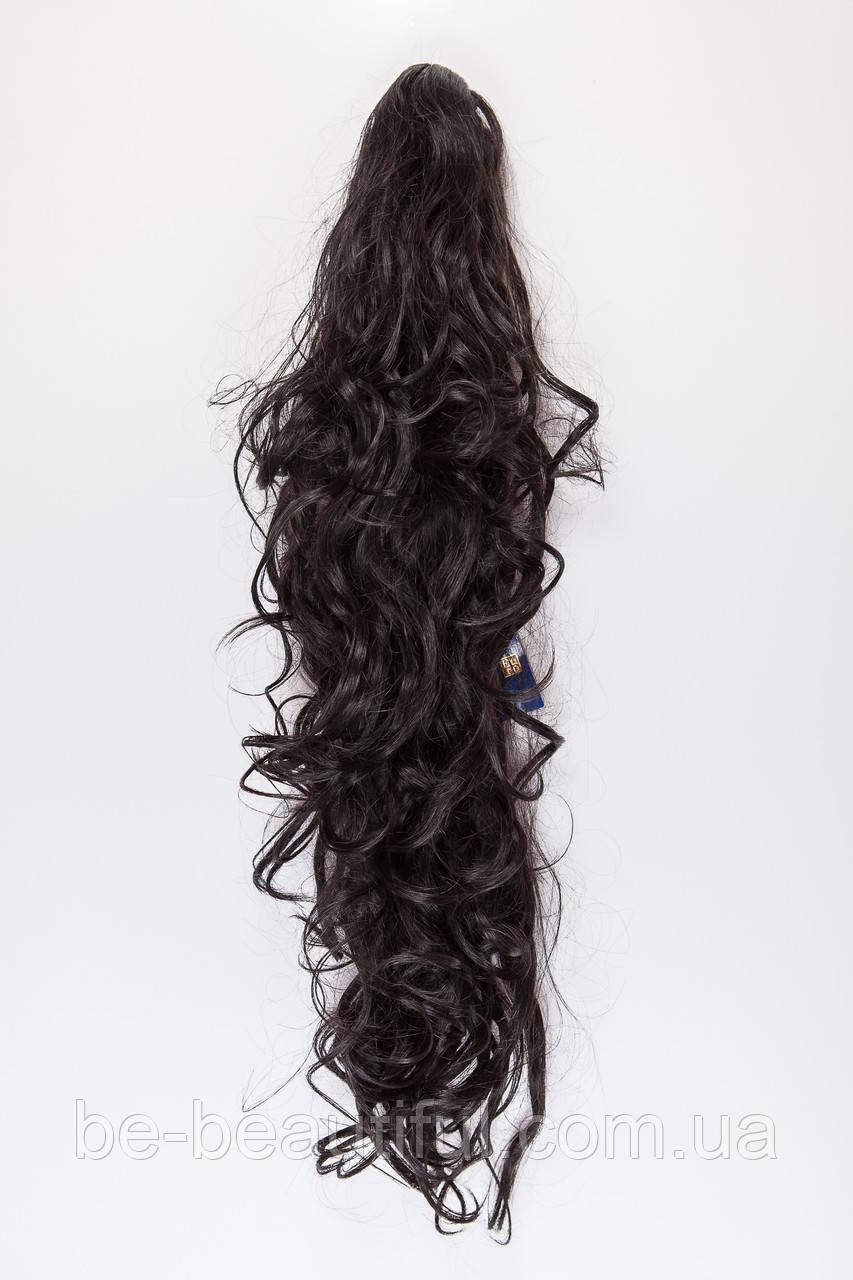 Волнистый шиньон на крабе №2. цвет черный натуральный