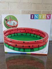 """Intex Бассейн 8802  """"Арбуз"""" 3 кольца, от 2 лет, диаметр 168см, высота 38см, 581л"""