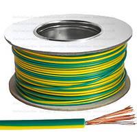 Провод монтажный ПВ-3 (H05V-K) Multicom, 2.5мм², CCA, жёлто-зелёный, 100м