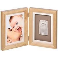 Набор для оттиска ручек и ножек Baby art Print Frame natural, фото 1