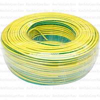 Провод гибкий марки ПВ-3 (H05V-K) Multicom, 1.5мм², Cu, жёлто-зеленый,в коробке 100м