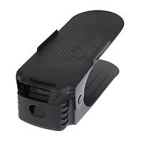 Подставка-органайзер для обуви Shoe Rack Черная 3 уровня регулировки высоты