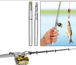 Мини-удочка складная походная в виде ручки fishPen спиннинг карманный, фото 2