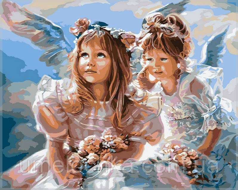 Картина по номерам  Ангелочки40 х 50 см(VP204)