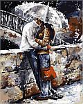 Раскраска по цифрам Любовь под дождем40х50 см(VP314)