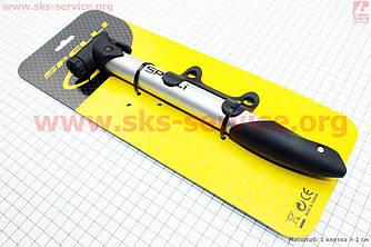 Алюминиевый вело насос MTB 8,5 (bar) с Т-ручкой, черный SPM-109