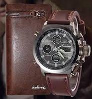 Комплект ударопрочные часы AMST портмоне Baellerry