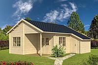 Дом деревянный из профилированного бруса 7х8. Кредитование строительства деревянных домов
