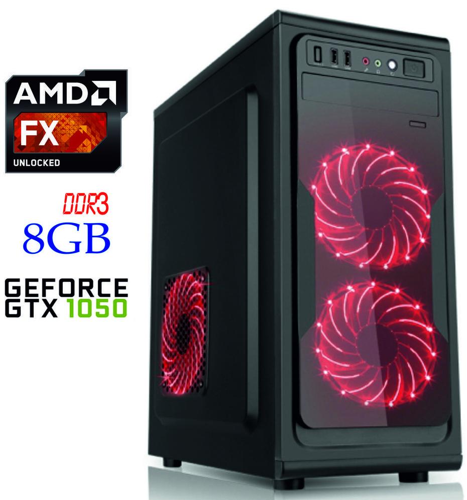 Игровой компьютер NG FX 4300 D1 / FX-4300 / DDR3-8Gb / HDD-1Tb / GeForce GTX1050