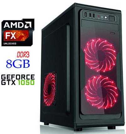 Игровой компьютер NG FX 4300 D1 / FX-4300 / DDR3-8Gb / HDD-1Tb / GeForce GTX1050, фото 2