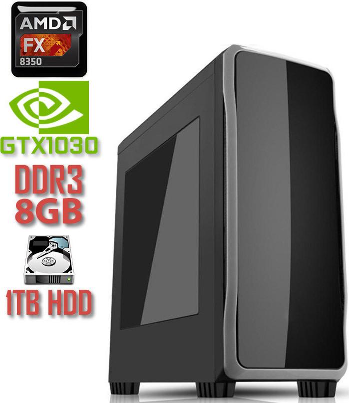 Игровой компьютер FX8350 V1 / FX8350 / DDR3-8Gb / HDD-1Tb / GeForce GT1030
