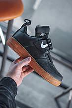 Мужские кроссовки Nike Air Force Utility Black/Gum
