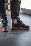 Чоловічі кросівки Nike Air Force Utility Black/Gum, фото 6