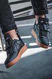 Чоловічі кросівки Nike Air Force Utility Black/Gum, фото 5