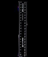 Линейка пластиковая JOBMAX 20см., черная