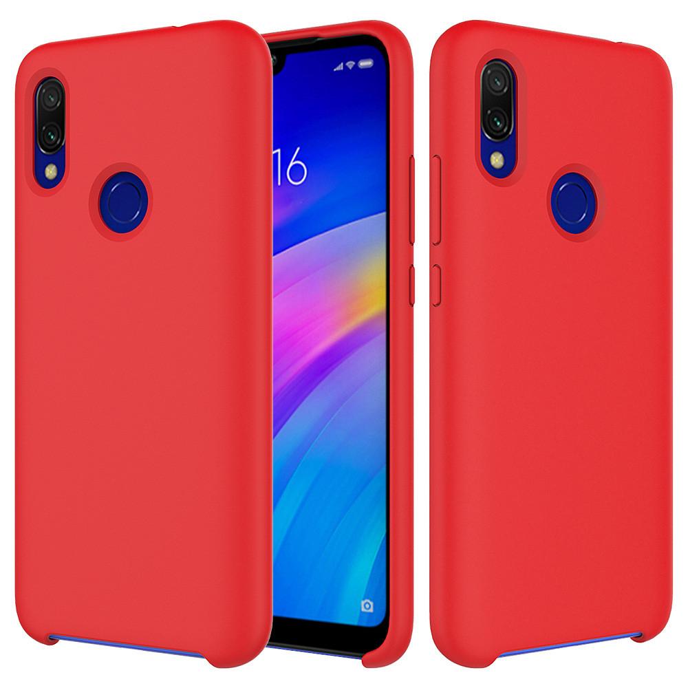 Силиконовый чехол Liquid Case Xiaomi Redmi Note 7 / Pro Red (Красный)