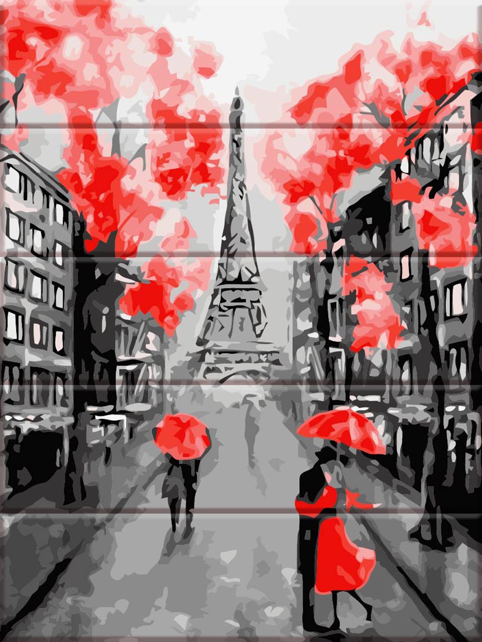 Раскраска по номерам на дереве Улицы Парижа ArtStory ASW064 30 х 40 см
