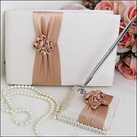 Свадебный набор аксессуаров (книга пожеланий, ручка)