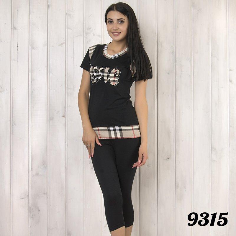 """Комплект-двойка женский: футболка и бриджи с принтом """"Night Angel"""" Pamuk (Турция) pmk9315"""