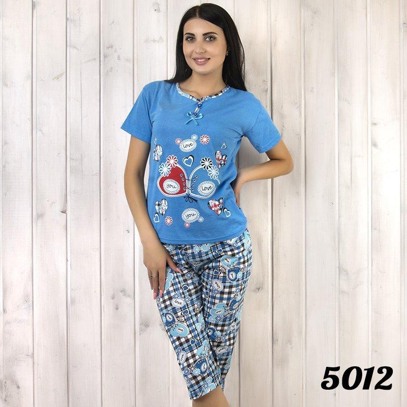 Комплект-двойка женский: футболка и бриджи с узором KSM (Турция) ksm5012