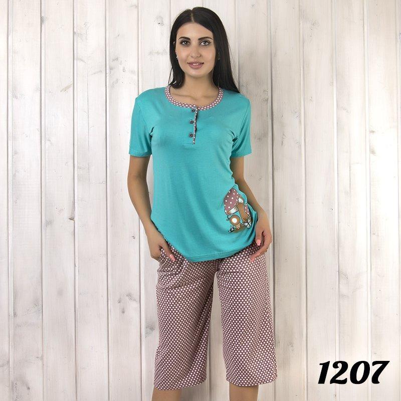 Комплект-двойка женский: футболка и бриджи с узором SNC (Турция) snc1207