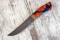 """Нож ручной работы из дамасской стали """"Волчок"""""""