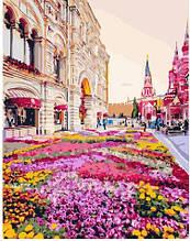 Картина по номерам Розовая клумба