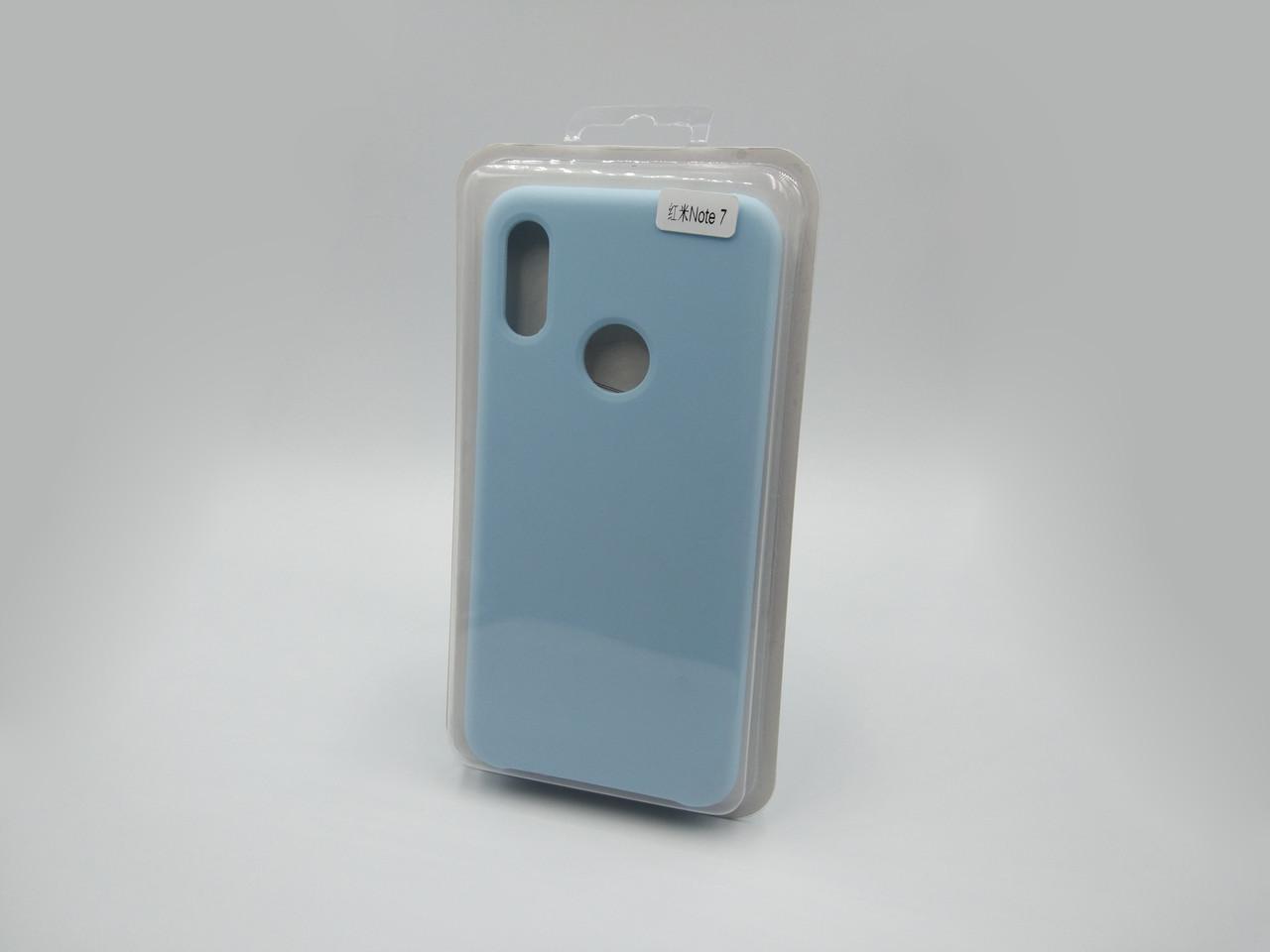 Силиконовый чехол Liquid Case Xiaomi Redmi Note 7 / Pro Light Blue (Светло-голубой)