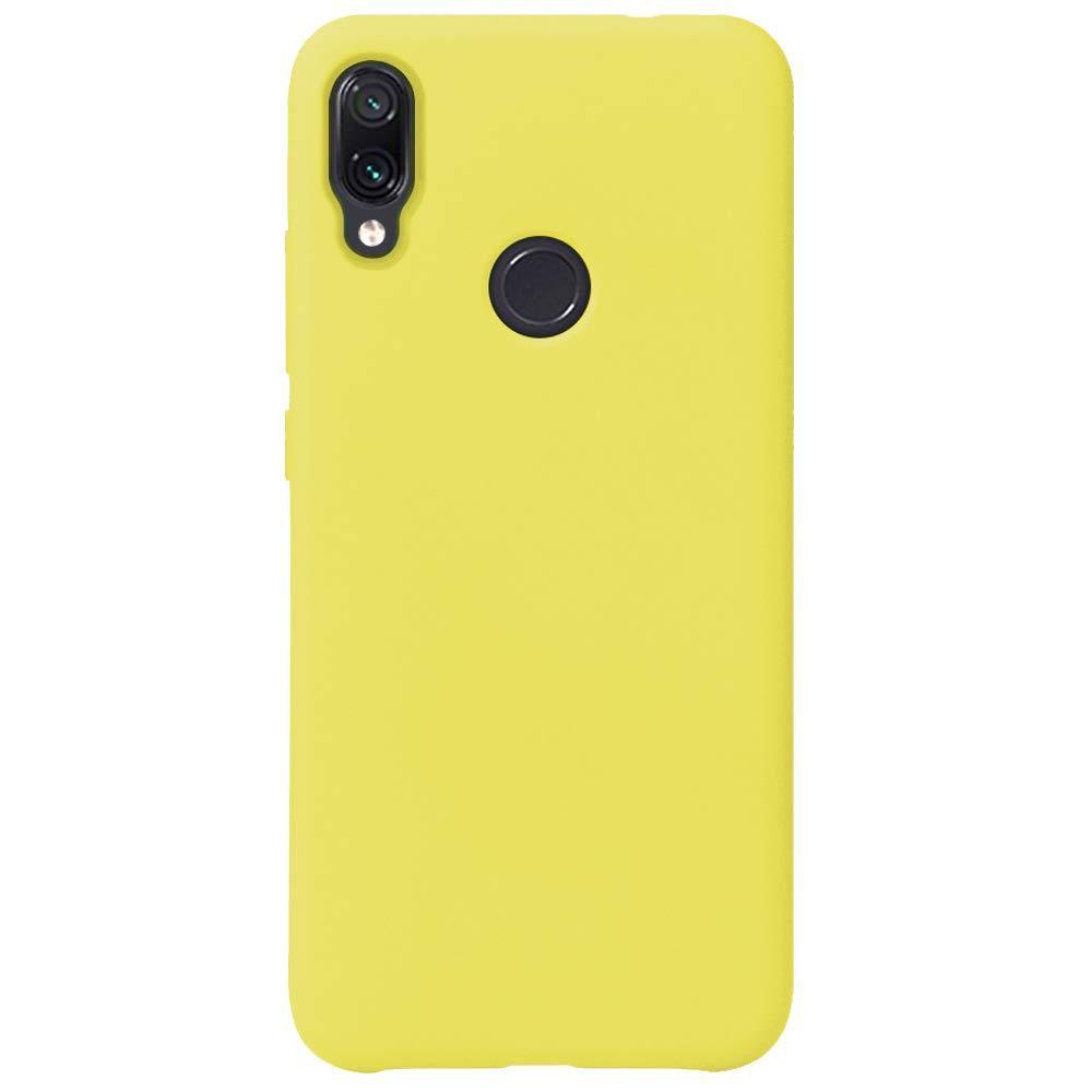 Силиконовый чехол Liquid Case Xiaomi Redmi Note 7 / Pro Yellow (Желтый)