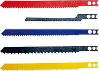 Полотна для электролобзика, набор 5 шт. хвостовик U Top Tools 64H107.