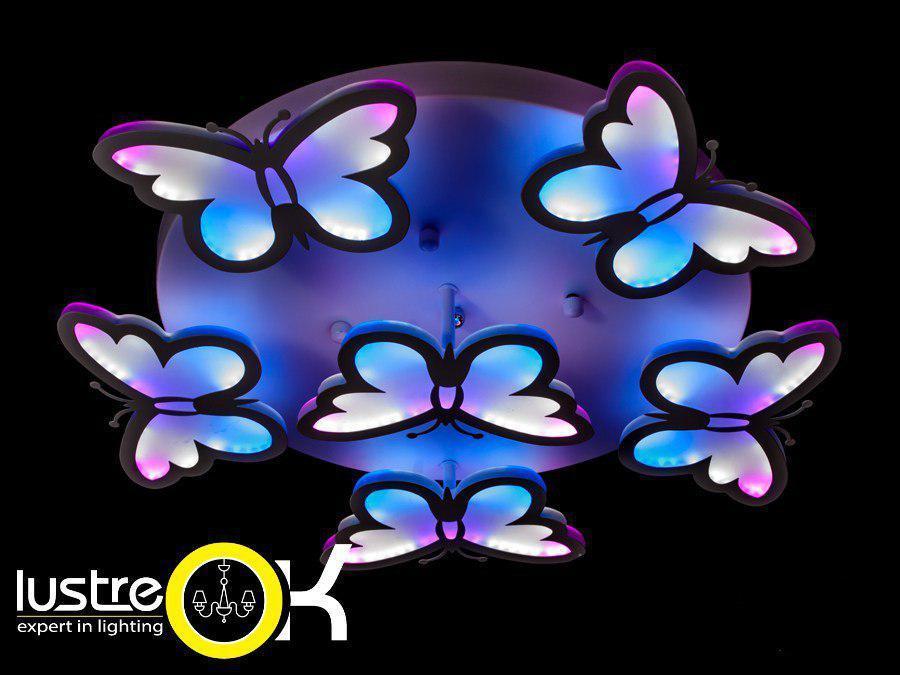 Люстра светодиодная потолочная Люстра для детской 8067/5+1 RGB