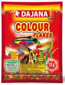 Корм для декоративных рыбок Даяна Колор (Dajana Color Flakes), хлопья 13 гр