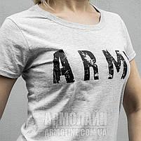 "Футболка ""ARMY"" Серый меланж (Рябой) ЖЕНСКАЯ XS, фото 4"