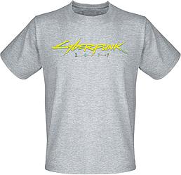 Футболка Cyberpunk 2077 Yellow Logo (меланж)