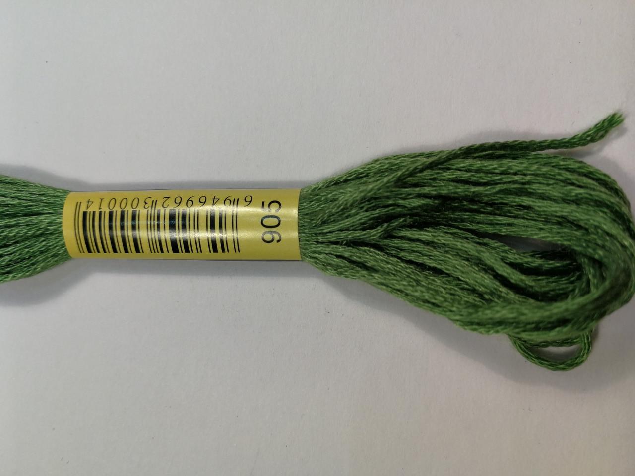 Мулине СХС 905 попугаевый зеленый темный