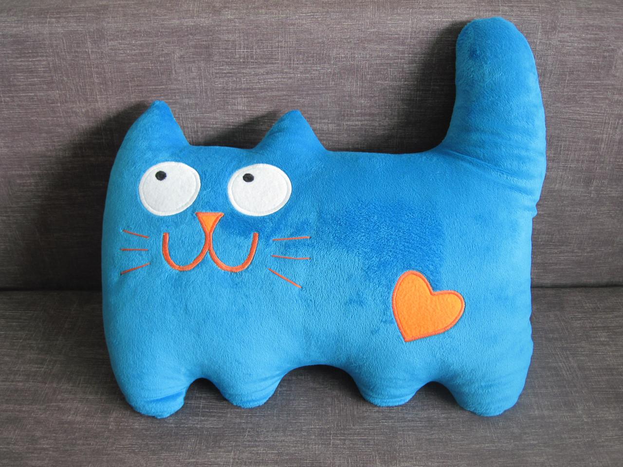 Мягкая игрушка - подушка кот сердечный ручная работа