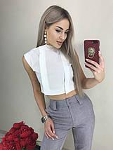 Летний костюм двойка блуза-топ и брюки 7/8 (42-46, серый, бежевый), фото 3