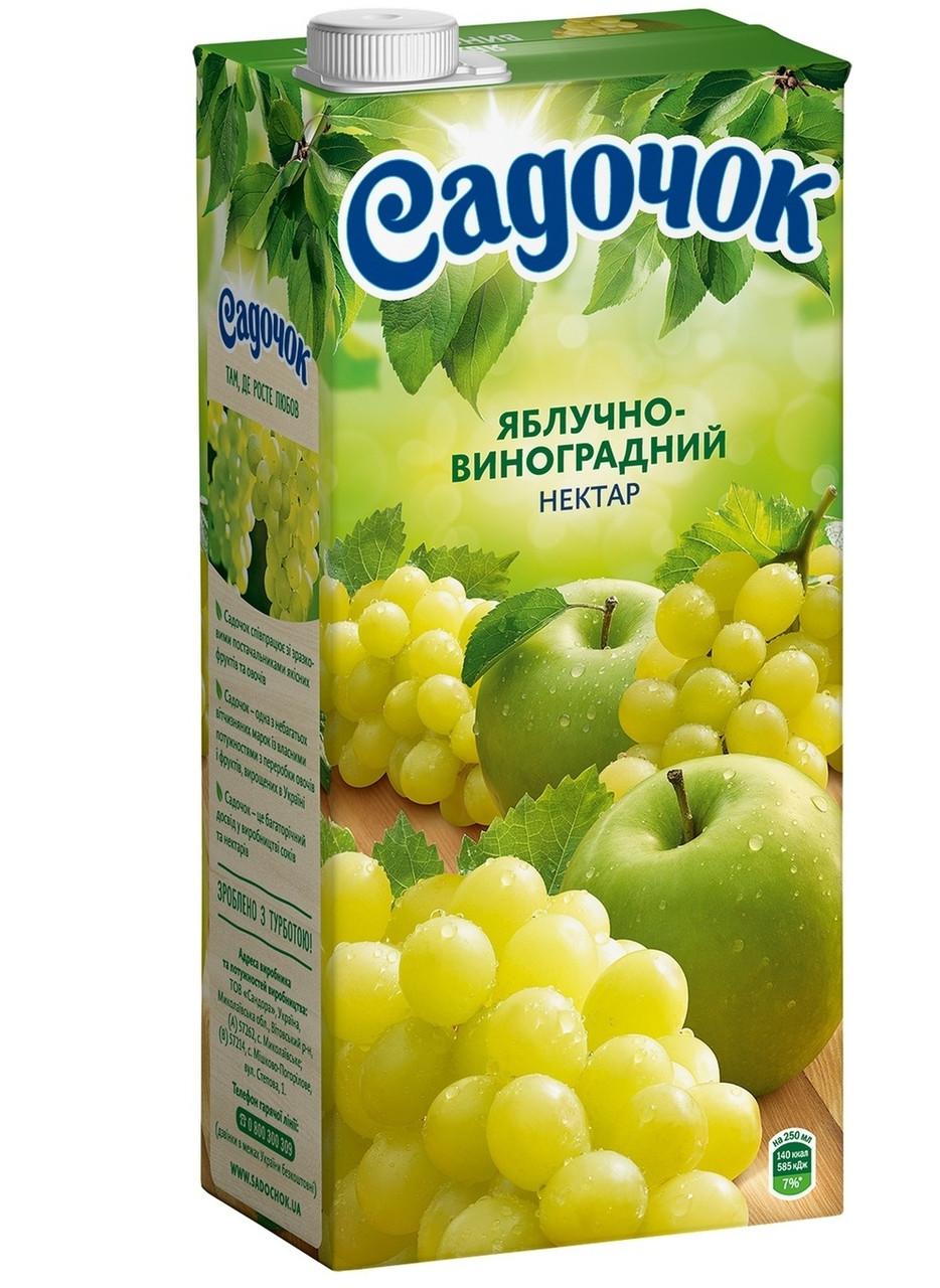 """Нектар виноградно-яблочный белый 1,93л """"Садочок """""""