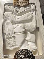 Набор для крещения мальчика с вафельным жилетом