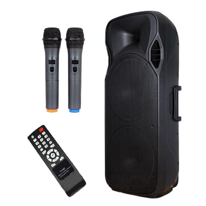 Активная колонка с радиомикрофонами A15-15 (USB/Bluetooth/Аккуммулятор