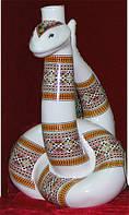 Штоф Змея керамика, сувениры из фарфора и керамики под заказ