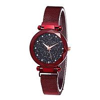 Женские часы Starry Sky Watch на магнитной застёжке Red